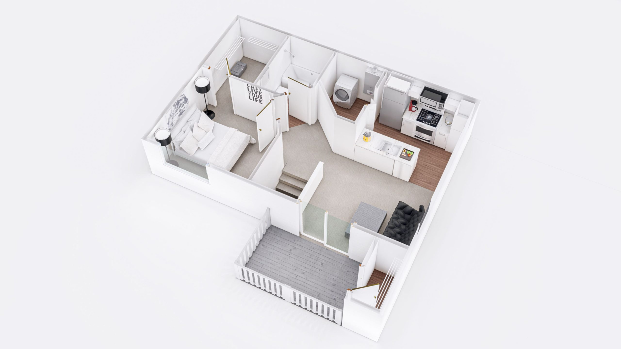 Maple 1 3D Floorplan