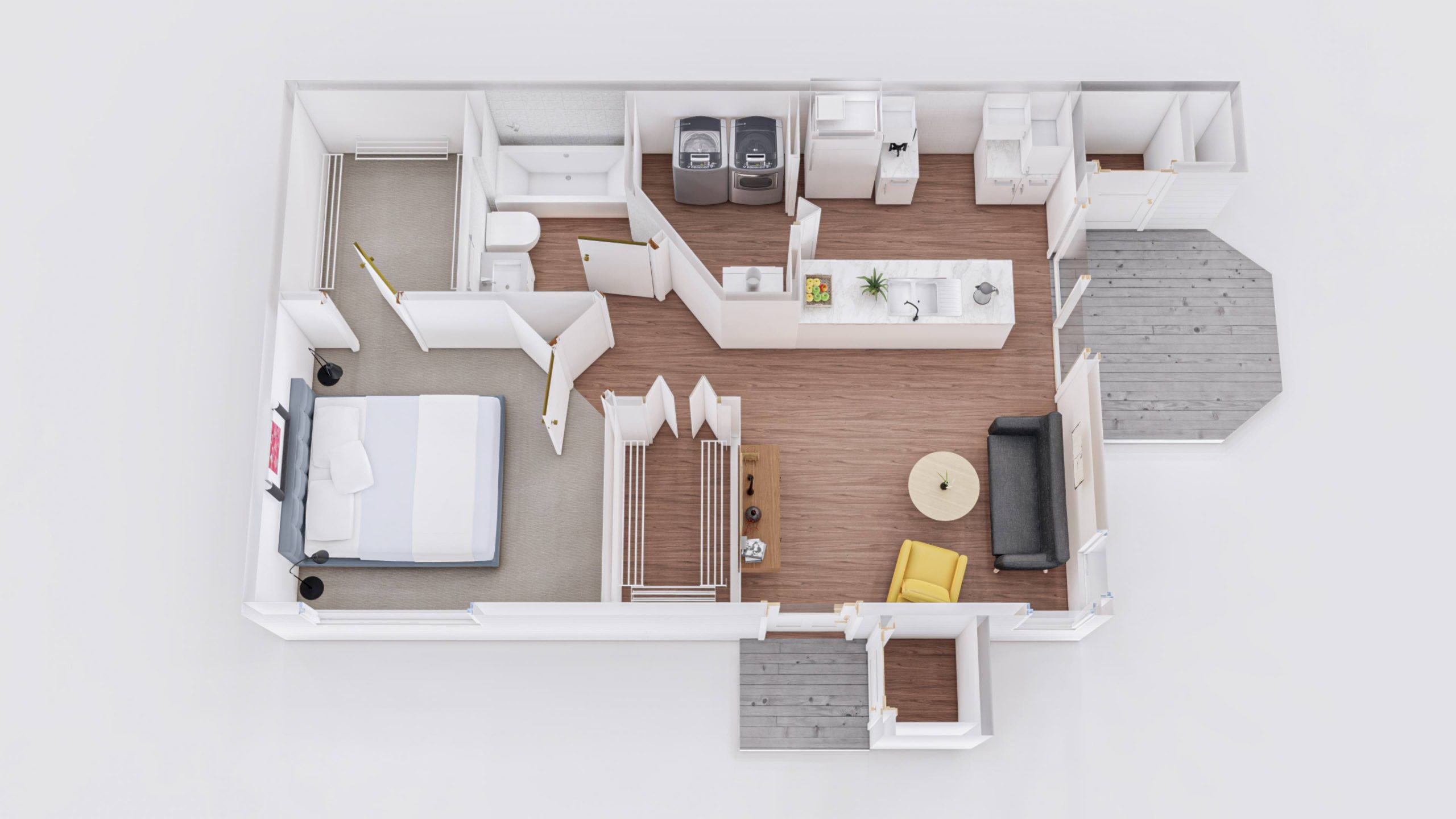 Oak 2 3D Floorplan