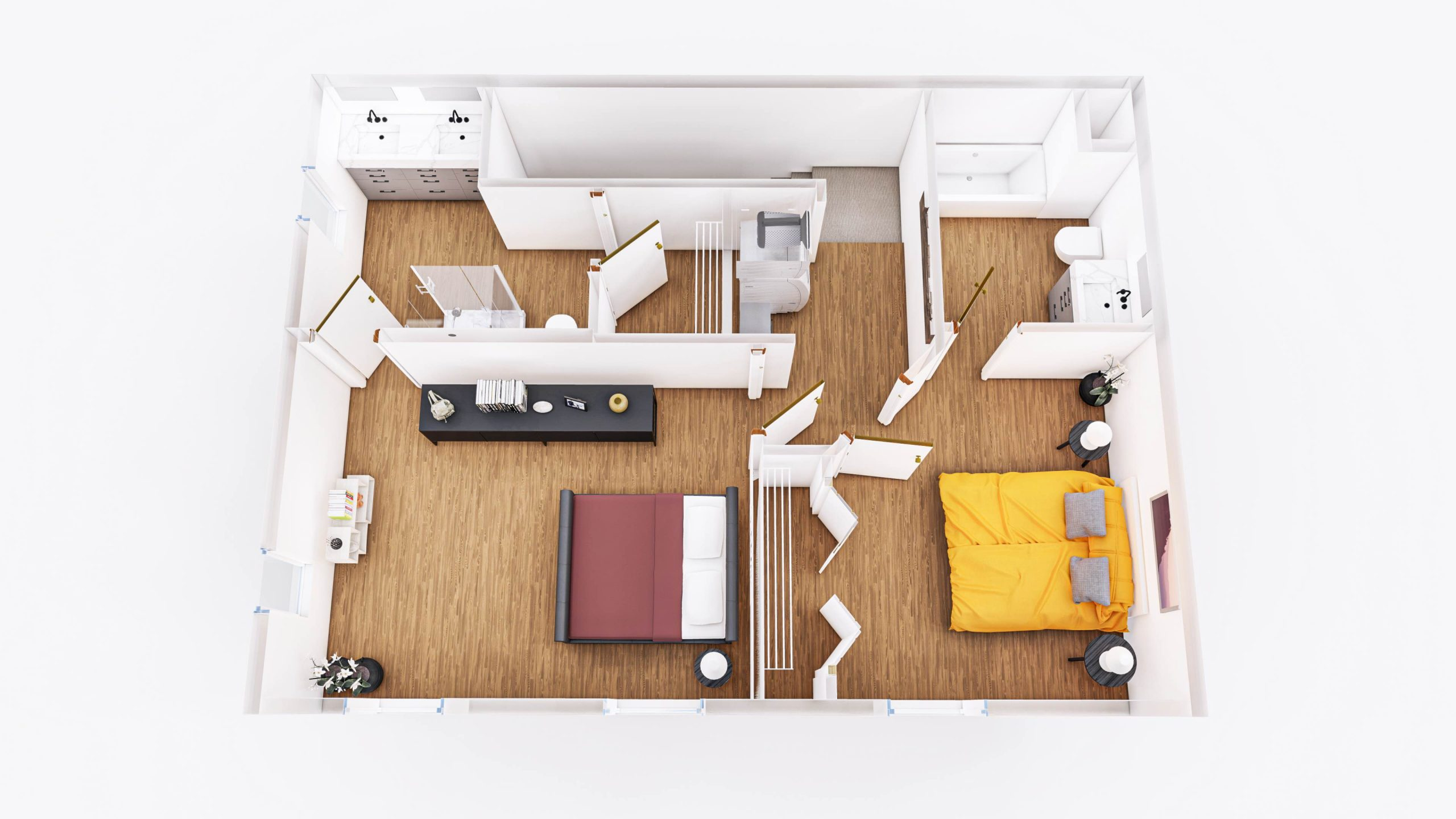 2nd Floor Acadia 3D Floor Plan