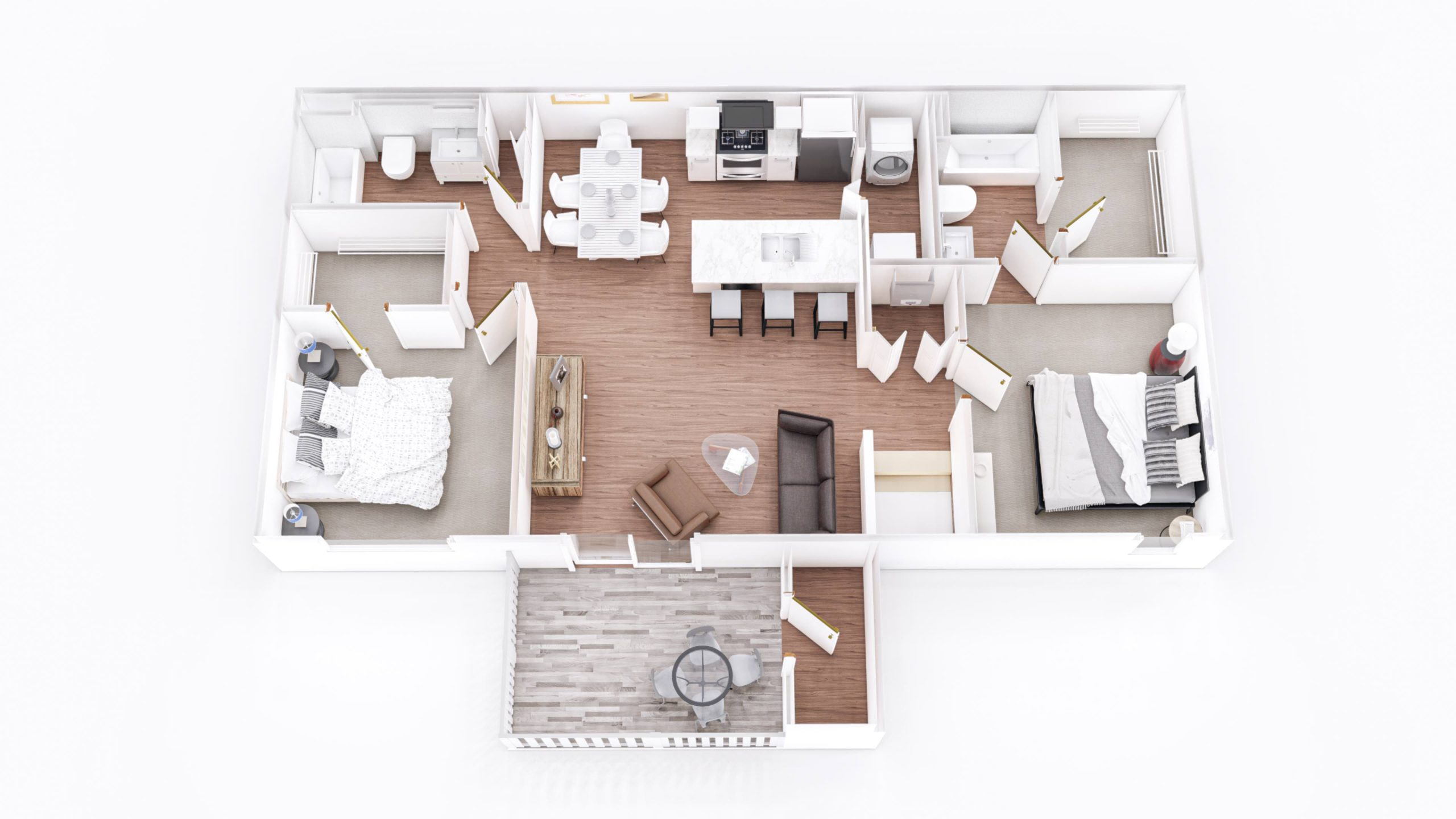 Chestnut 2 3D Floor Plan