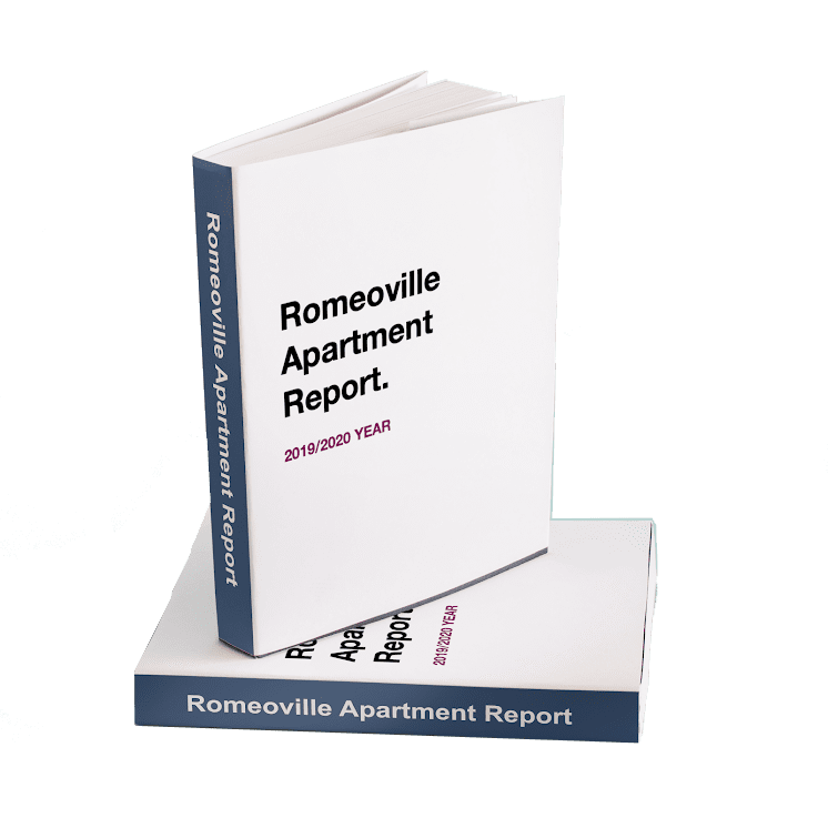 Physical Representation of Romeoville Apartment Report as a Book